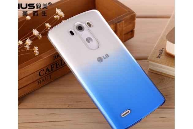 Фирменная из тонкого и лёгкого пластика задняя панель-чехол-накладка для LG G4 прозрачная с эффектом дождя