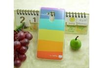 """Фирменная необычная из легчайшего и тончайшего пластика задняя панель-чехол-накладка для LG G4c H525N  """"тематика Все цвета Радуги"""""""