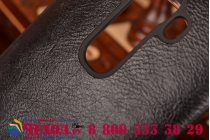 Фирменный оригинальный чехол-кейс из импортной кожи Quick Circle для LG G4 с умным окном черный