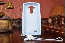 """Фирменная необычная уникальная полимерная мягкая задняя панель-чехол-накладка для LG G4 """"тематика Андроид в черничном  Шоколаде"""""""