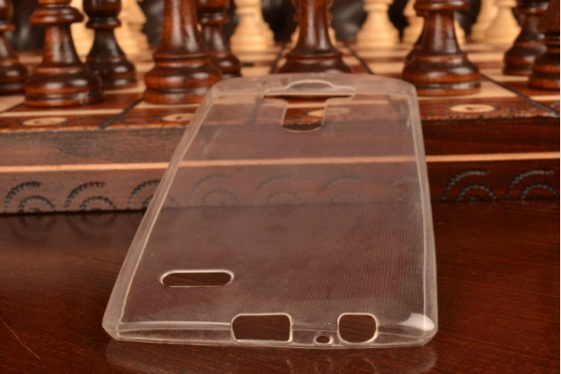 Фирменная ультра-тонкая из мягкого качественного пластика задняя панель-чехол-накладка для LG G4 прозрачная