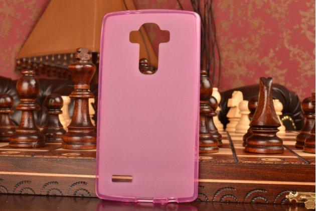 Фирменная ультра-тонкая силиконовая задняя панель-чехол-накладка для LG G4 розовая
