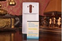 Усиленная батарея-аккумулятор большой ёмкости 6800 mAh для телефона LG G4 H815 / H818 + задняя крышка белая + гарантия