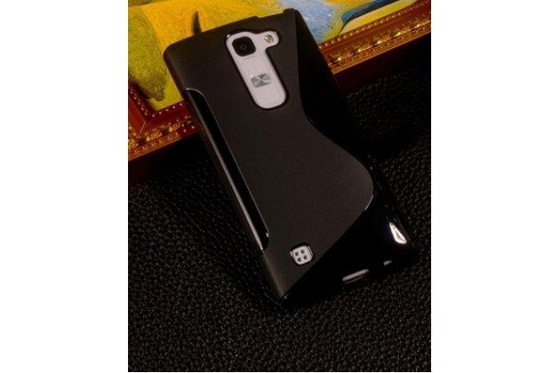 Фирменная ультра-тонкая полимерная из мягкого качественного силикона задняя панель-чехол-накладка для  LG G4c H525N черная