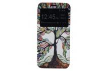 """Фирменный чехол-книжка с безумно красивым расписным рисунком Сказачное дерево на LG G5 SE H845 / H860N / H850 5.3"""" с окошком для звонков"""