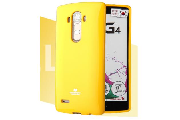 """Фирменная ультра-тонкая полимерная из глянцевого блестящего """"мармеладного"""" силикона задняя панель-чехол-накладка для LG G5 SE H845 / H860N / H850 5.3"""" желтая"""