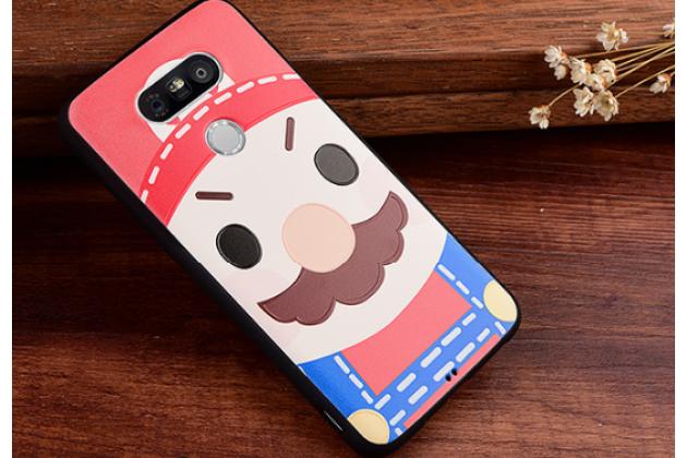 """Фирменная уникальная задняя панель-крышка-накладка из тончайшего силикона для LG G5 SE H845 / H860N / H850 5.3"""" с объёмным 3D рисунком """"тематика Марио"""""""