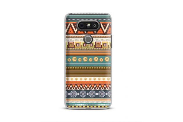 """Фирменный уникальный необычный чехол-книжка для LG G5 SE H845 / H860N / H850 5.3"""" с 3D рисунком тематика """"Эклектические узоры"""""""