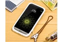 """Фирменная необычная уникальная полимерная мягкая задняя панель-чехол-накладка для LG G5 SE H845 / H860N / H850 5.3""""  """"тематика Андроид в Белом Шоколаде"""""""