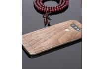"""Наклейка на заднюю крышку из цельного дерева для LG G5 SE H845 / H860N / H850 5.3"""" цвет """"Беленый Дуб"""""""