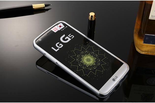 """Фирменная металлическая задняя панель-крышка-накладка из тончайшего облегченного авиационного алюминия для LG G5 SE H845 / H860N / H850 5.3"""" серебристая"""
