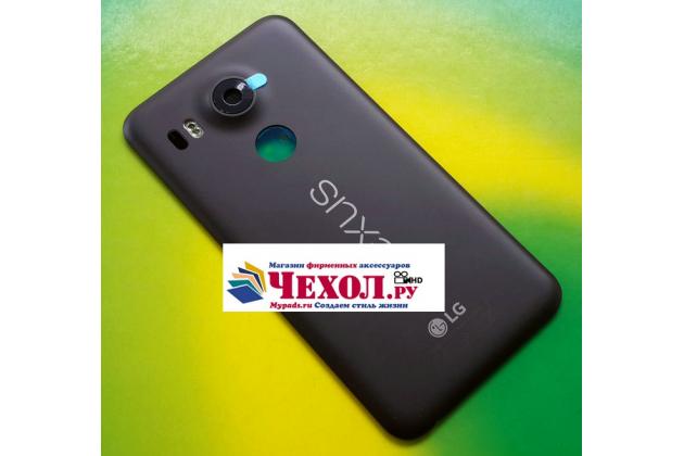 Родная оригинальная задняя крышка-панель которая шла в комплекте для LG Google Nexus 5X черная