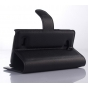 Фирменный чехол-книжка из качественной импортной кожи с мульти-подставкой застёжкой и визитницей для Лджи Джой Н220 черный