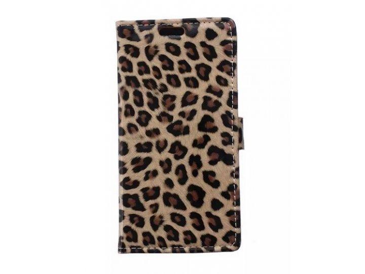 Чехол-защитный кожух для LG Joy H220N леопардовый коричневый..