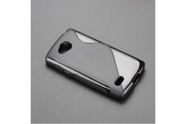 Фирменная ультра-тонкая полимерная из мягкого качественного силикона задняя панель-чехол-накладка для LG Joy H220N черная