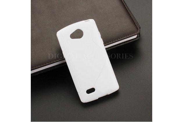 Фирменная ультра-тонкая полимерная из мягкого качественного силикона задняя панель-чехол-накладка для LG Joy H220N белая