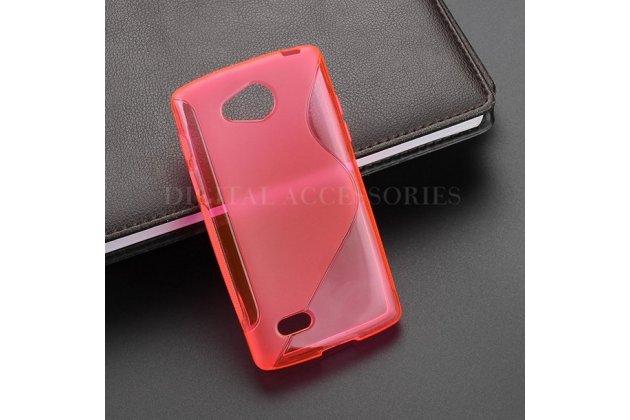 Фирменная ультра-тонкая полимерная из мягкого качественного силикона задняя панель-чехол-накладка для LG Joy H220N красная