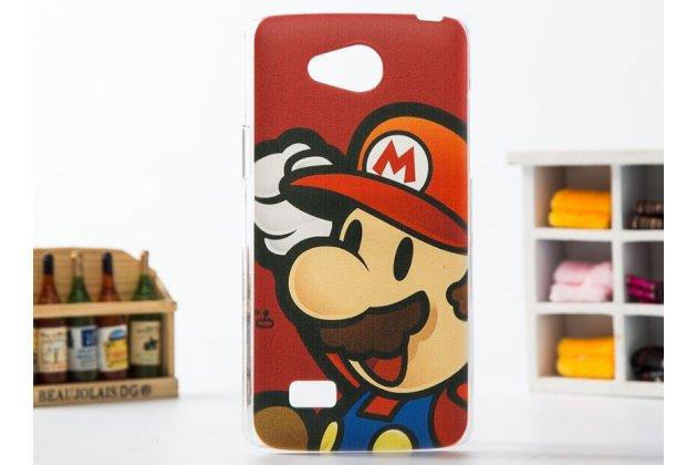 """Фирменная необычная уникальная пластиковая задняя панель-чехол-накладка для LG Joy H220N """"тематика супер Марио"""""""