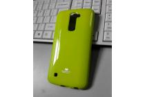 """Фирменная ультра-тонкая полимерная из мягкого качественного силикона задняя панель-чехол-накладка для LG K10 / M2 (K410 / K420N / K430N / K430 Dual Sim LTE) 5.3""""  зеленая"""