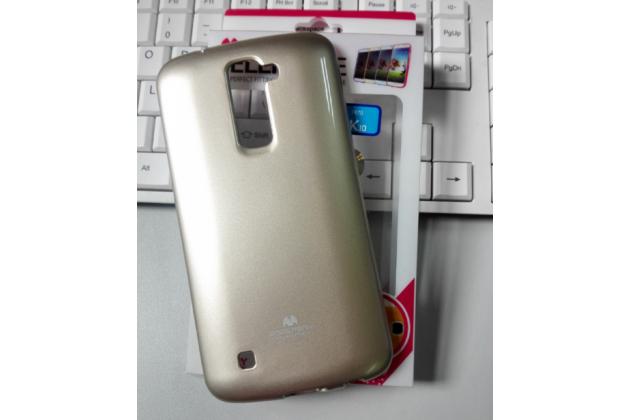 """Фирменная ультра-тонкая полимерная из мягкого качественного силикона задняя панель-чехол-накладка для LG K10 / M2 (K410 / K420N / K430N / K430 Dual Sim LTE) 5.3""""  серая"""