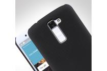 """Фирменная задняя панель-крышка-накладка из тончайшего и прочного пластика для LG K10 / M2 (K410 / K420N / K430N / K430 Dual Sim LTE) 5.3""""  черная"""