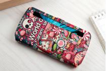 """Фирменный чехол-книжка с безумно красивым расписным рисунком Карамельного взрыва на LG K10 / M2 (K410 / K420N / K430N / K430 Dual Sim LTE) 5.3""""   с окошком для звонков"""