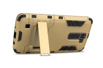 """Противоударный усиленный ударопрочный фирменный чехол-бампер-пенал для LG K10 / M2 (K410 / K420N / K430N / K430 Dual Sim LTE) 5.3""""  золотой"""