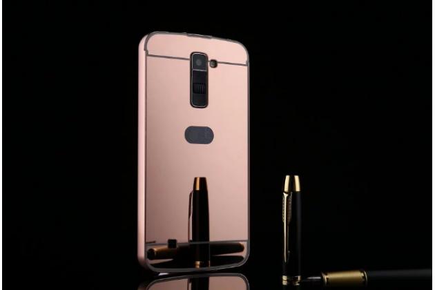 """Фирменная металлическая задняя панель-крышка-накладка из тончайшего облегченного авиационного алюминия для LG K10 / M2 (K410 / K420N / K430N / K430 Dual Sim LTE) 5.3"""" розовая"""