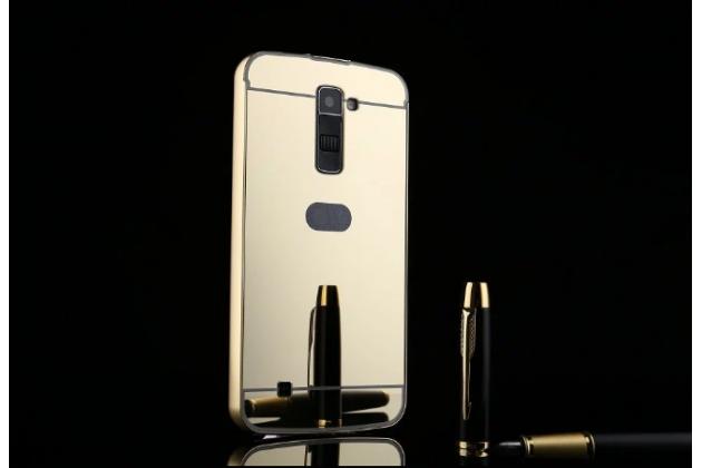 """Фирменная металлическая задняя панель-крышка-накладка из тончайшего облегченного авиационного алюминия для LG K10 / M2 (K410 / K420N / K430N / K430 Dual Sim LTE) 5.3"""" серебристая"""