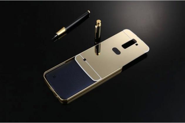"""Фирменная металлическая задняя панель-крышка-накладка из тончайшего облегченного авиационного алюминия для LG K10 / M2 (K410 / K420N / K430N / K430 Dual Sim LTE) 5.3"""" золотая"""