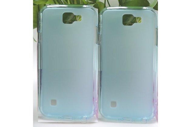 """Фирменная ультра-тонкая полимерная из мягкого качественного силикона задняя панель-чехол-накладка для LG K3 LTE K100DS / LG LS450 4.5"""" голубая"""