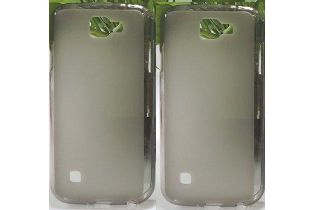 """Фирменная ультра-тонкая полимерная из мягкого качественного силикона задняя панель-чехол-накладка для LG K3 LTE K100DS / LG LS450 4.5"""" серая"""