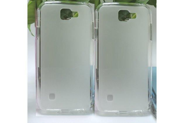 """Фирменная ультра-тонкая полимерная из мягкого качественного силикона задняя панель-чехол-накладка для LG K3 LTE K100DS / LG LS450 4.5"""" белая"""