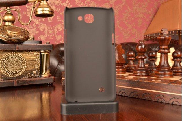 """Фирменная задняя панель-крышка-накладка из тончайшего и прочного пластика для LG K4 K120E / K130E / Zone 3 (vs425) 4.5"""" черная"""