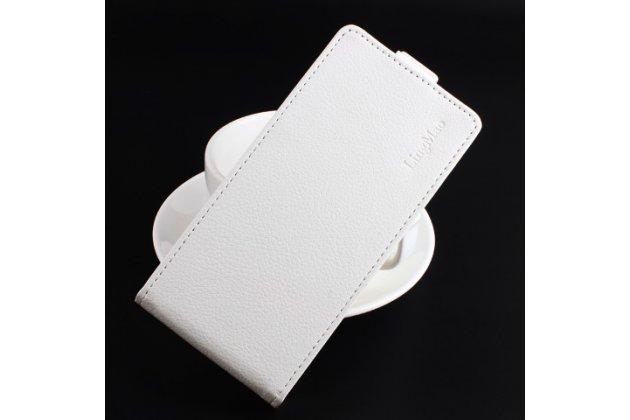 """Фирменный вертикальный откидной чехол-флип для LG K4 K120E / K130E / Zone 3 (vs425) 4.5"""" белый"""