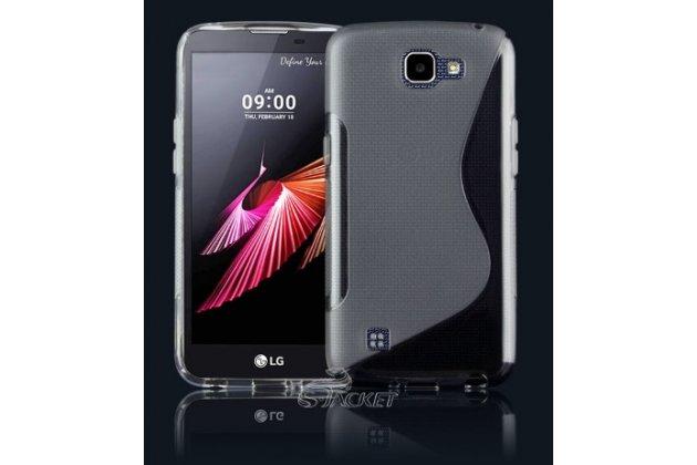 """Фирменная ультра-тонкая полимерная из мягкого качественного силикона задняя панель-чехол-накладка для LG K4 K120E / K130E / Zone 3 (vs425) 4.5"""" черная"""