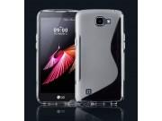Фирменная ультра-тонкая полимерная из мягкого качественного силикона задняя панель-чехол-накладка для LG K4 K1..