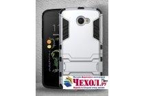 """Противоударный усиленный ударопрочный фирменный чехол-бампер-пенал для LG K5 / Q6 (X220ds) 5.0"""" белый"""