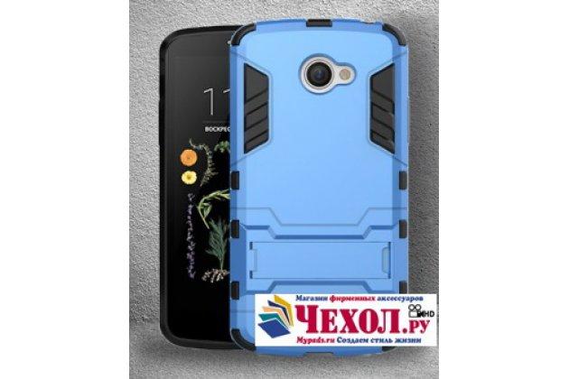 """Противоударный усиленный ударопрочный фирменный чехол-бампер-пенал для LG K5 / Q6 (X220ds) 5.0"""" синий"""