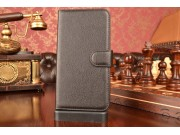 Фирменный чехол-книжка из качественной импортной кожи с подставкой застёжкой и визитницей для Лджи Трибут 5 / ..