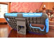 Противоударный усиленный ударопрочный фирменный чехол-бампер-пенал для LG Tribute 5 / LG K7/ M1 5.0 синий..
