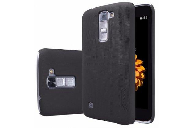 Фирменная задняя панель-крышка-накладка из тончайшего и прочного пластика для LG Tribute 5 / LG K7/ M1 (X210DS) Dual Sim 5.0 черная
