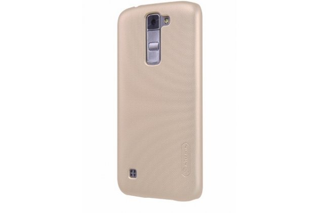 Фирменная задняя панель-крышка-накладка из тончайшего и прочного пластика для LG Tribute 5 / LG K7/ M1 (X210DS) Dual Sim 5.0 золотая