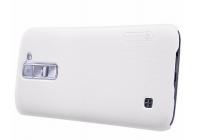 Фирменная задняя панель-крышка-накладка из тончайшего и прочного пластика для LG Tribute 5 / LG K7/ M1 (X210DS) Dual Sim 5.0 белая
