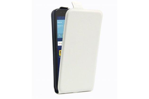 Фирменный вертикальный откидной ультра-тонкий чехол-флип для LG Tribute 5 / LG K7/ M1 (X210DS) Dual Sim 5.0 белый