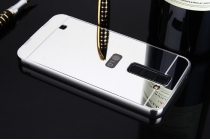 Фирменная металлическая задняя панель-крышка-накладка из тончайшего облегченного авиационного алюминия для LG Tribute 5 / LG K7/ M1 (X210DS) Dual Sim 5.0 серебряная