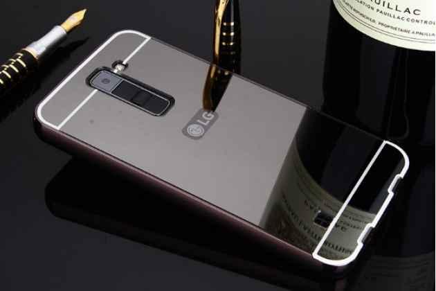 Фирменная металлическая задняя панель-крышка-накладка из тончайшего облегченного авиационного алюминия для LG Tribute 5 / LG K7/ M1 (X210DS) Dual Sim 5.0 черная