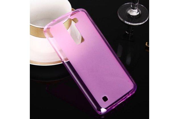 """Фирменная ультра-тонкая полимерная из матового силикона задняя панель-чехол-накладка для LG K8 K350N/ K350E 5.0"""" розовая"""