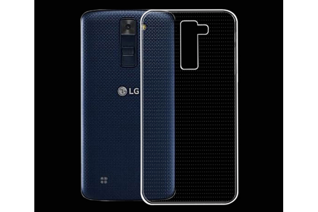 """Фирменная ультра-тонкая полимерная задняя панель-чехол-накладка из силикона для LG K8 K350N/ K350E 5.0""""0 Dual Sim LTE) 5.3""""  прозрачная"""