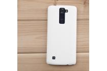 """Фирменная задняя панель-крышка-накладка из тончайшего и прочного пластика для LG K8 K350N/ K350E 5.0"""" белая"""